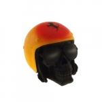 Caveira capacete amarelo Ferrari
