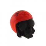 Caveira capacete Jack Daniels vermelha