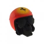 Caveira capacete vermelho Ferrari