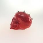 Caveira com moicano spike vermelha