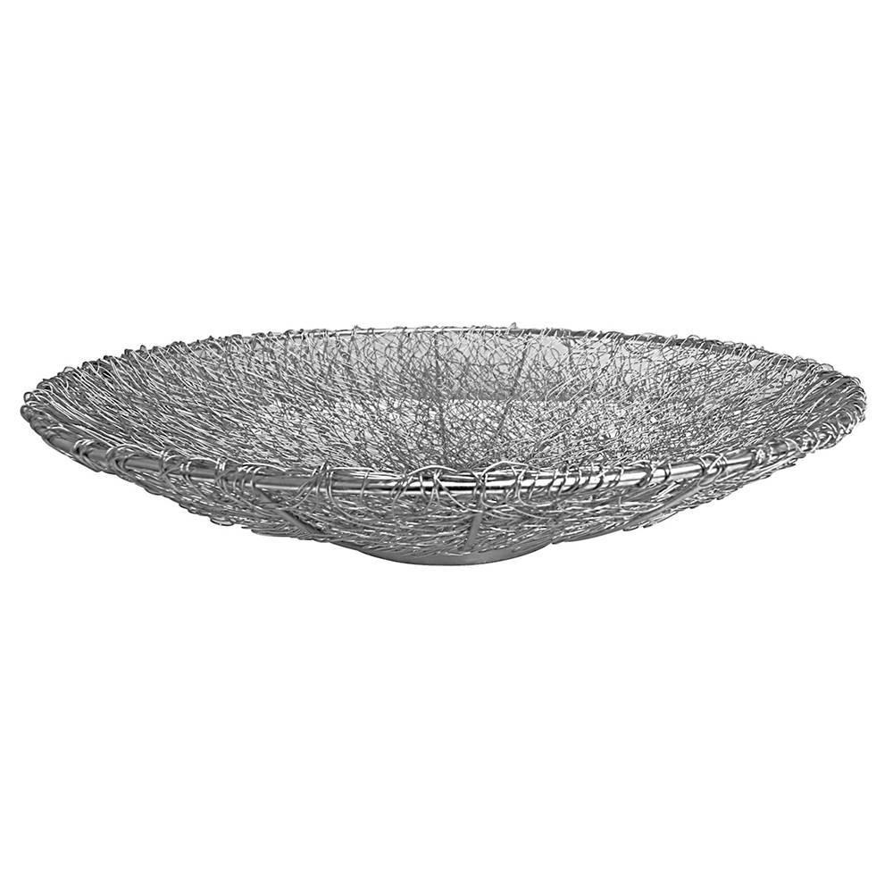 Centro de Mesa Clips Grande em Aço Inox - Prestige - 46 cm