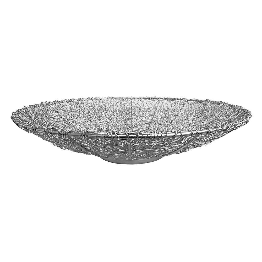 Centro de Mesa Clips Médio em Aço Inox - Prestige - 36 cm