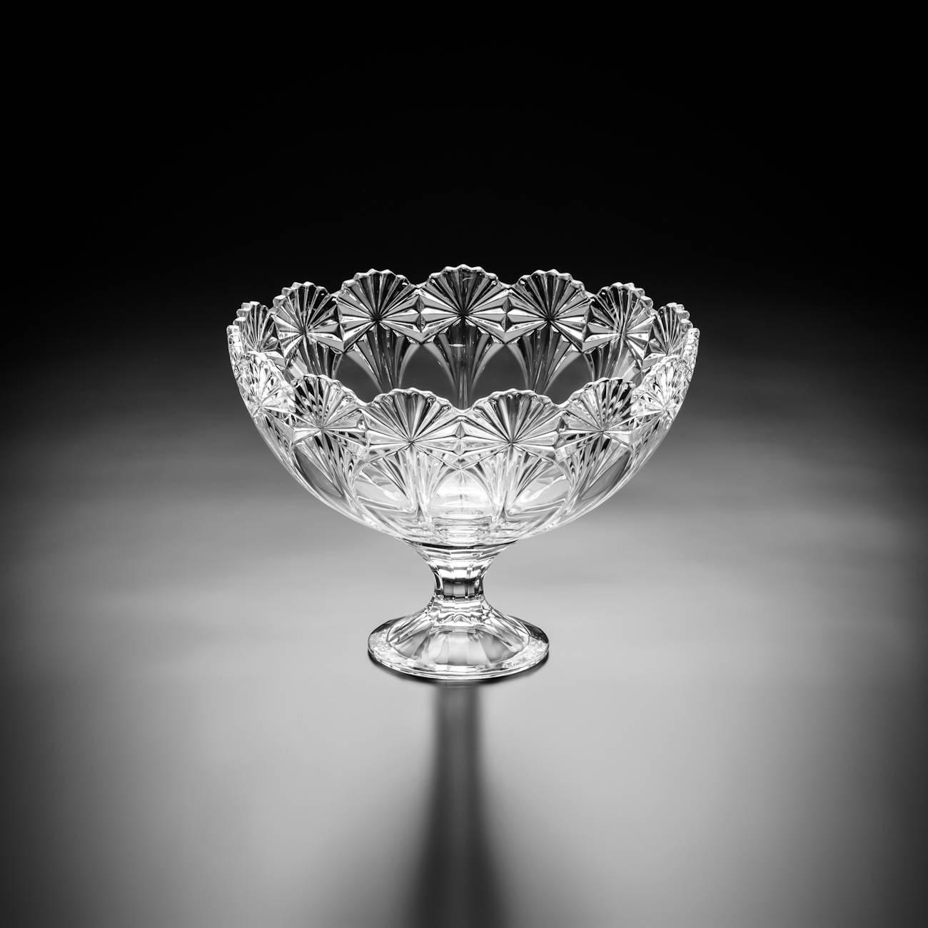Centro de Mesa Caravana-Giga em Cristal - Bohemia Crystalite - 30,5 cm