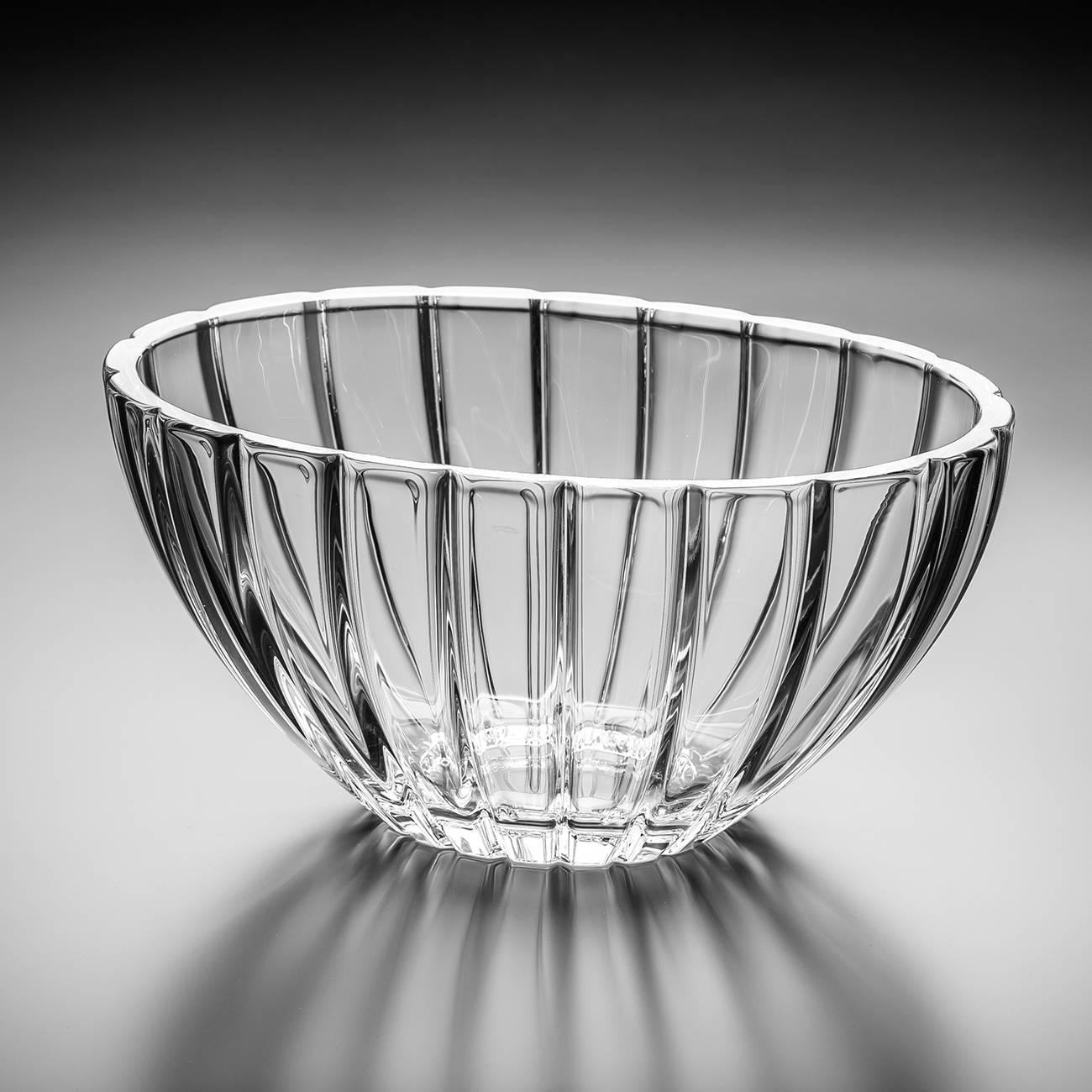 Centro de Mesa Oval em Cristal - Bohemia Crystalite - 30,5 cm