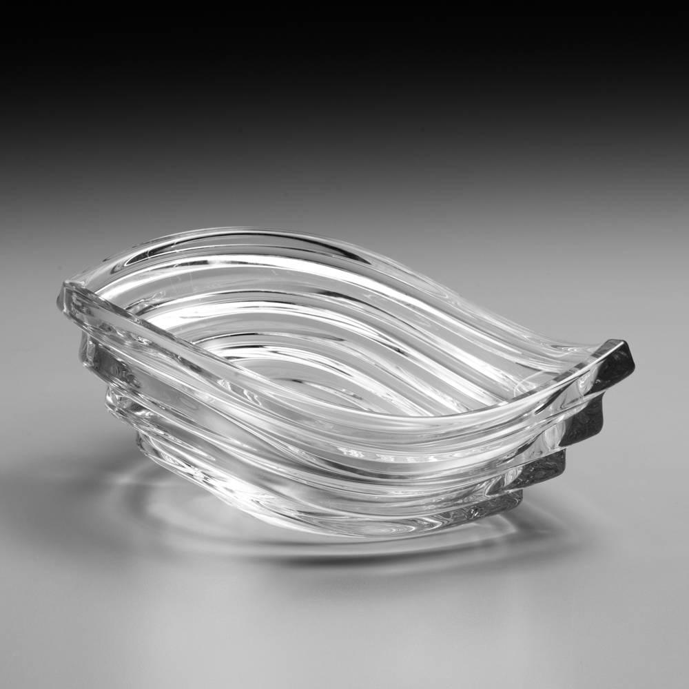 Centro de Mesa Wave em Cristal - 30,5 cm