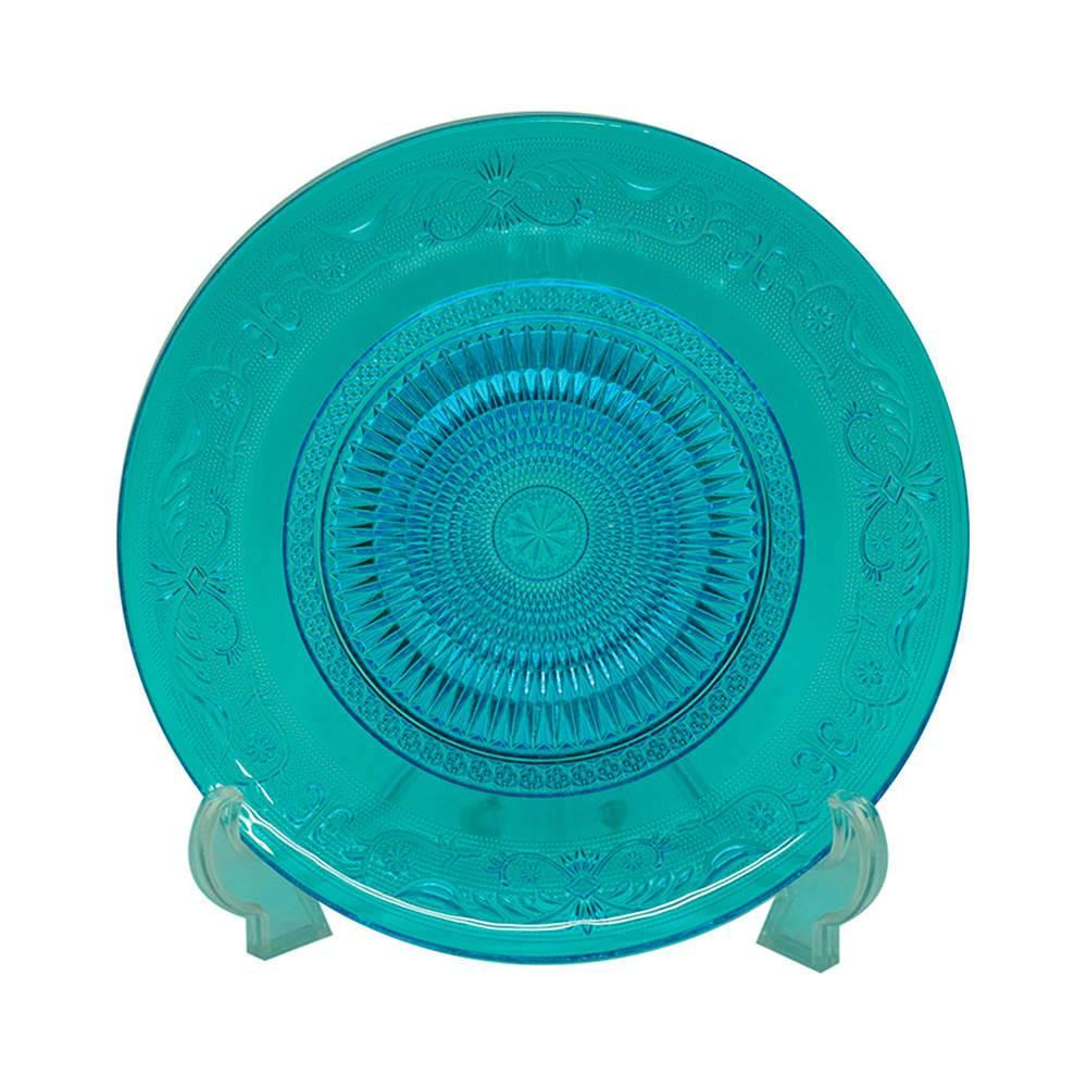 Centro de Mesa Fine Decor Azul em Vidro - Urban - 29x2 cm