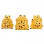 Cerâmica Amarela - Sapinho Sentidos conjunto c/3