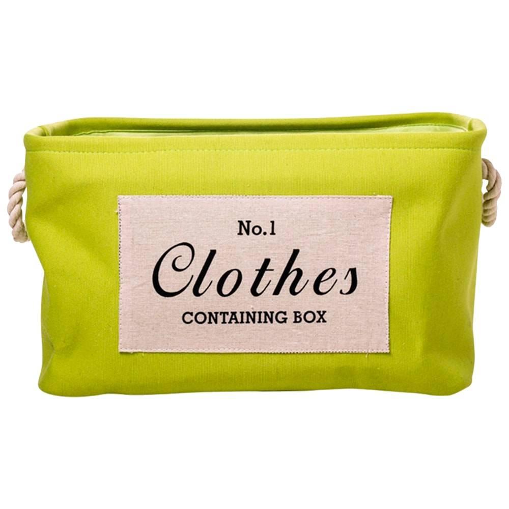 Cesto Organizador Clothes Verde Grande em Tecido -  40x29 cm