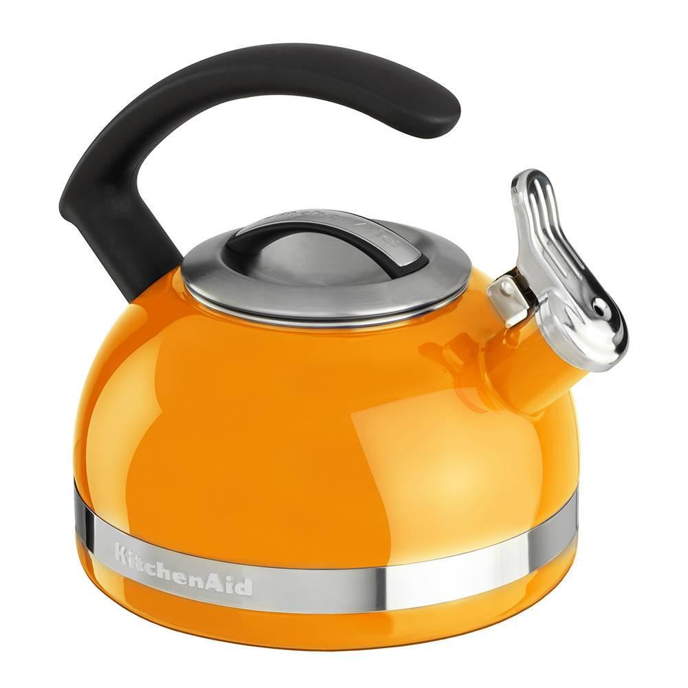 Chaleira com Apito KitchenAid 1,9 Litros Mandarin Orange - KI973A8 - 21x19,8 cm