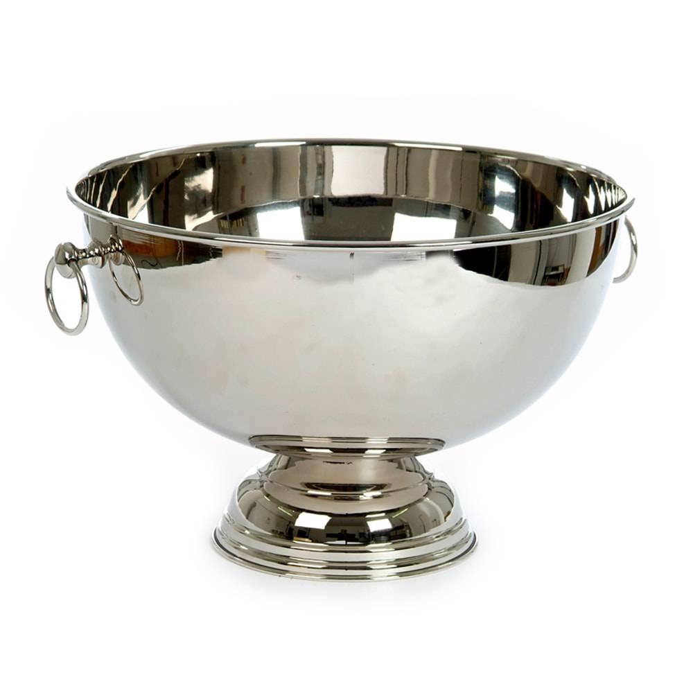 Champanheira para 2 Garrafas Prata em Metal - 43x39 cm