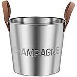 Champanheira Champagne em Inox Fullway - Alça em Couro - 36x31cm