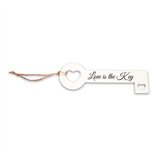 Chave Decorativa Love Key em MDF - 26x8,8 cm
