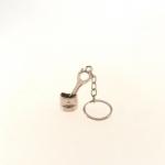 Chaveiro Pistão em Metal - 8x2 cm