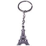 Chaveiro Shine Torre Eiffel Prata com Pedrarias em Metal - 11x3 cm