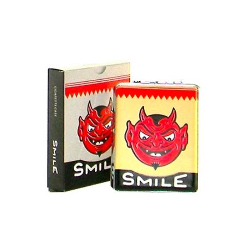 Cigarette Smile Vermelho em Metal - 11x9 cm