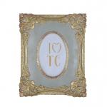 Cinza - Porta Retrato Cinza Clássico II - 10x15