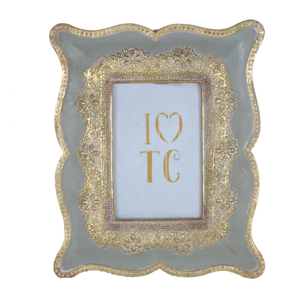 Cinza - Porta Retrato Cinza Clássico III - 10x15