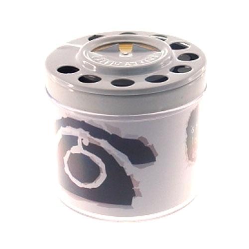 Cinzeiro Branco Telefone com Tampa em Alumínio - 10x9 cm