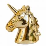 Cofre busto unicórnio dourado G