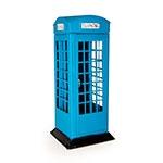 Cofre Cabine Telefônica Azul Londres em Metal