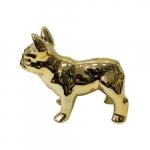Cofre cachorro em pé dourado