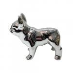 Cofre cachorro em pé prata