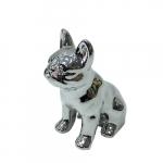 Cofre cachorro sentado prata