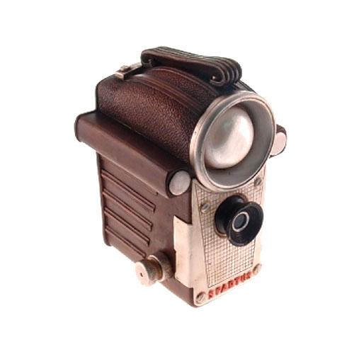 Cofre Câmera Filmadora Retrô em Resina - 17x12 cm