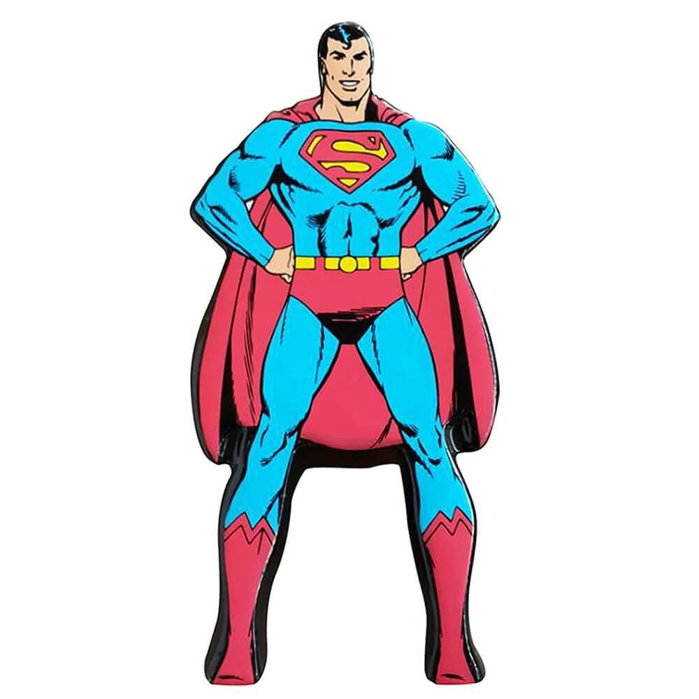 Cofre DC Comics Superman Character Azul e Vermelho em Cerâmica - Urban - 25x17,5 cm