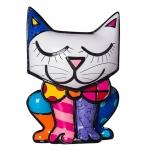 Cofre Decorativo Cat - Romero Britto - em Resina - 14x11 cm