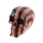 Cofre Decorativo Caveira Bandeira USA em Resina