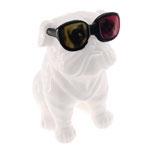 Cofre Decorativo Dog Óculos 3D em Cerâmica