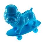 Cofre Decorativo Dog Skate Azul em Cerâmica