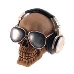 Cofre Decorativo Fone e Óculos Escuro em Resina