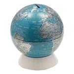 Cofre Decorativo Globo Azul/ Prata Fullway - 15x15 cm