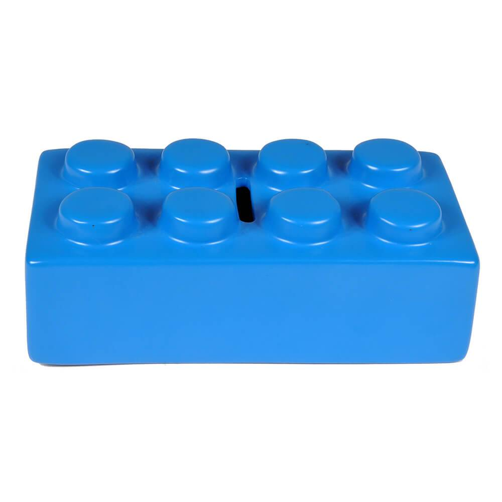 Cofre Decorativo Puzzle Azul em Cerâmica - Urban - 16x8 cm