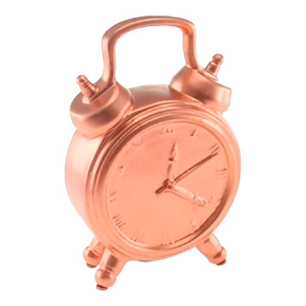 Cofre Decorativo Relógio Cobre em Cerâmica - 18x12 cm