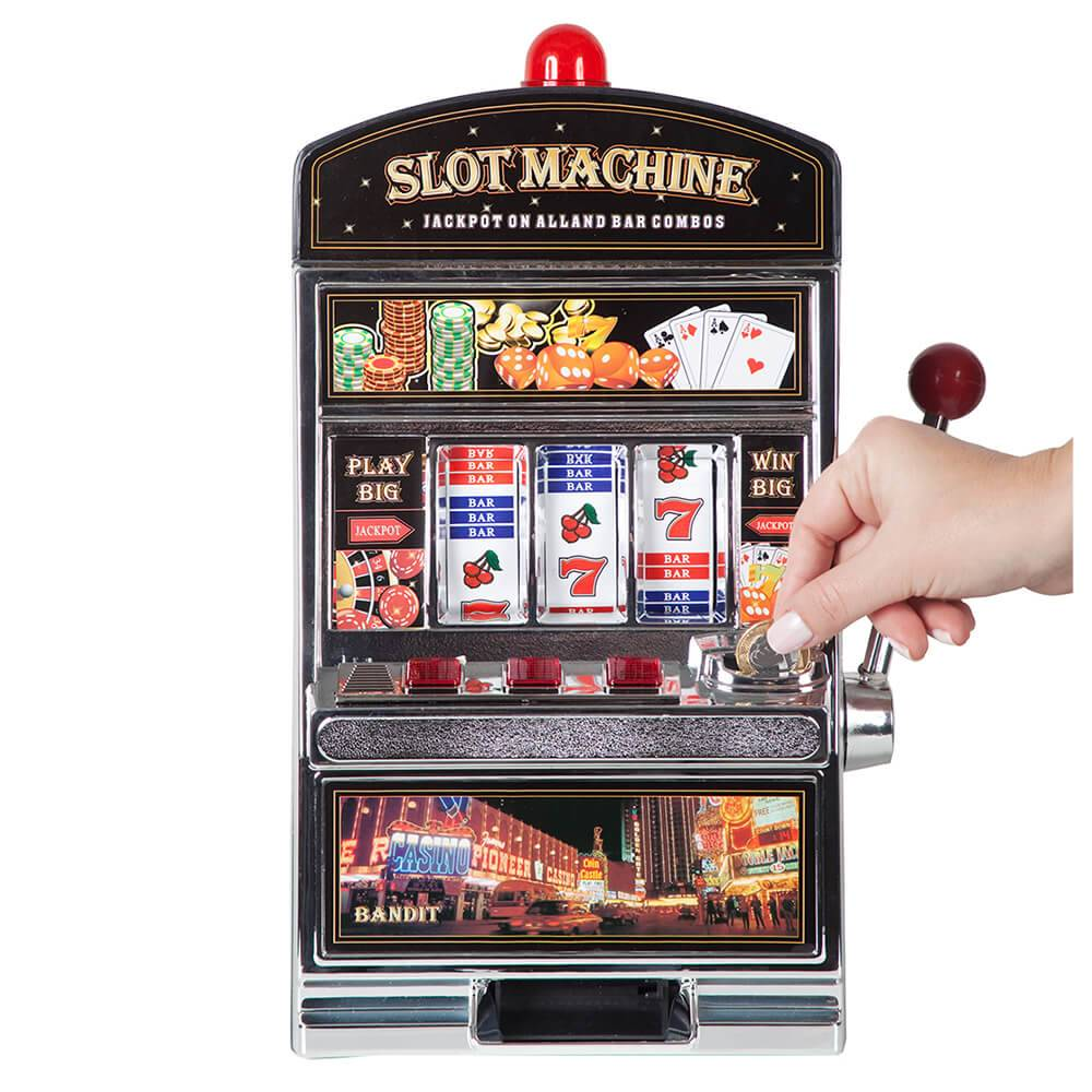 Cofre Decorativo Slot Machine Preto Grande em Polipropileno - Urban - 37x24 cm