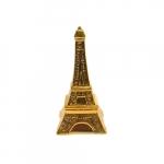 Cofre Decorativo Torre Eiffel Dourada em Cerâmica - 20x10 cm