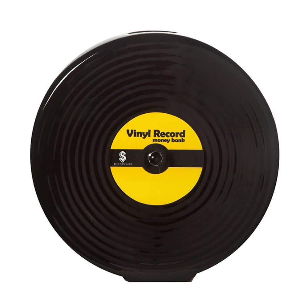 Cofre Disco Long Play Preto em Cerâmica - Urban - 18x7 cm
