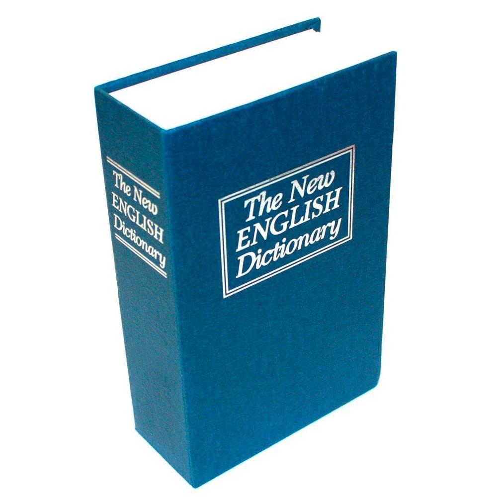 Cofre em Formato de Livro Dicionário Azul em Metal - 27x21 cm