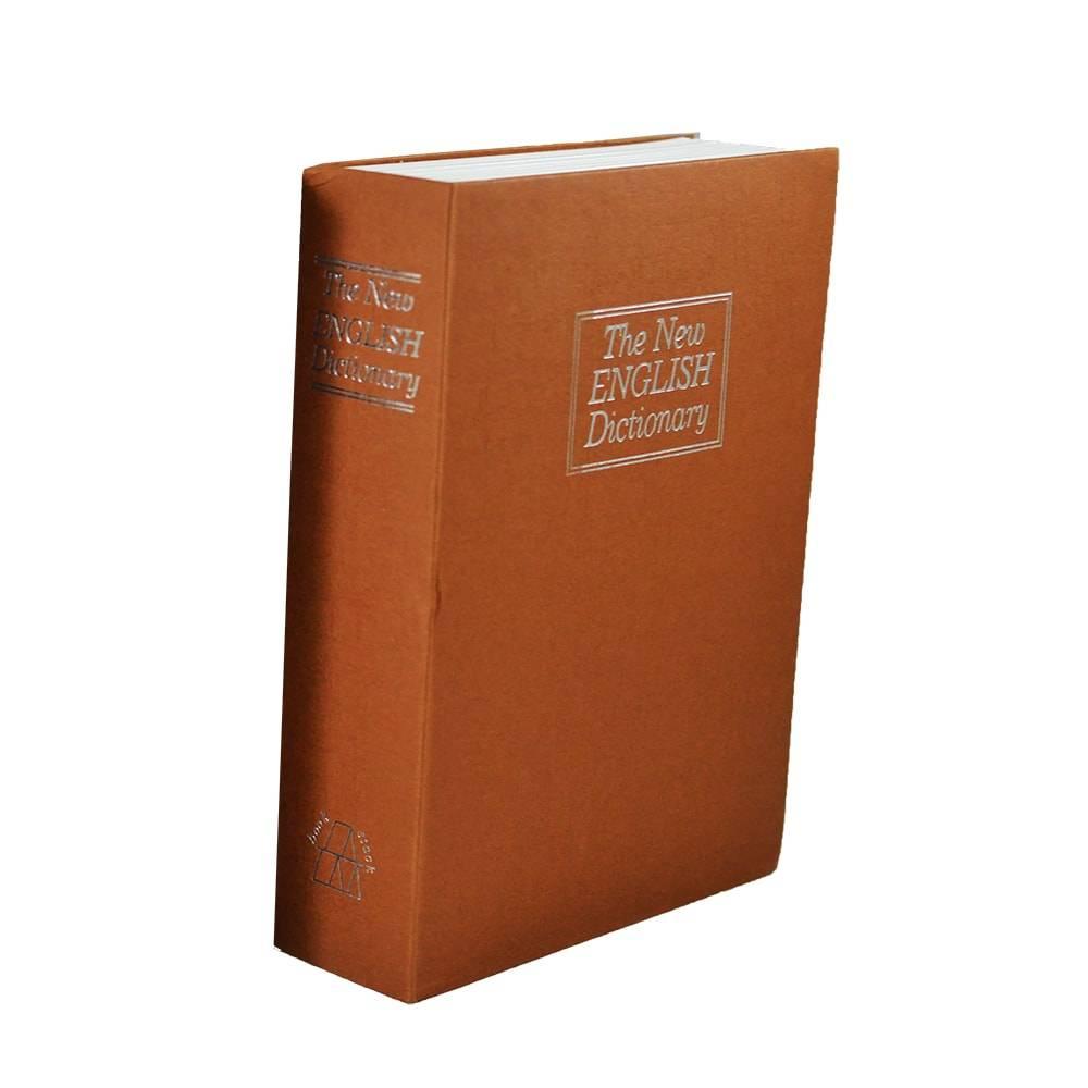 Cofre em Formato de Livro Dicionário Laranja em Metal - 27x21 cm