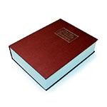 Cofre em Formato de Livro Dicionário Vermelho em Metal