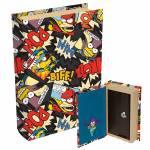 Cofre Formato de Livro Heróis História em Quadrinhos - The Simpsons - em Madeira - 21x13 cm