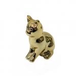 Cofre gato sentado dourado