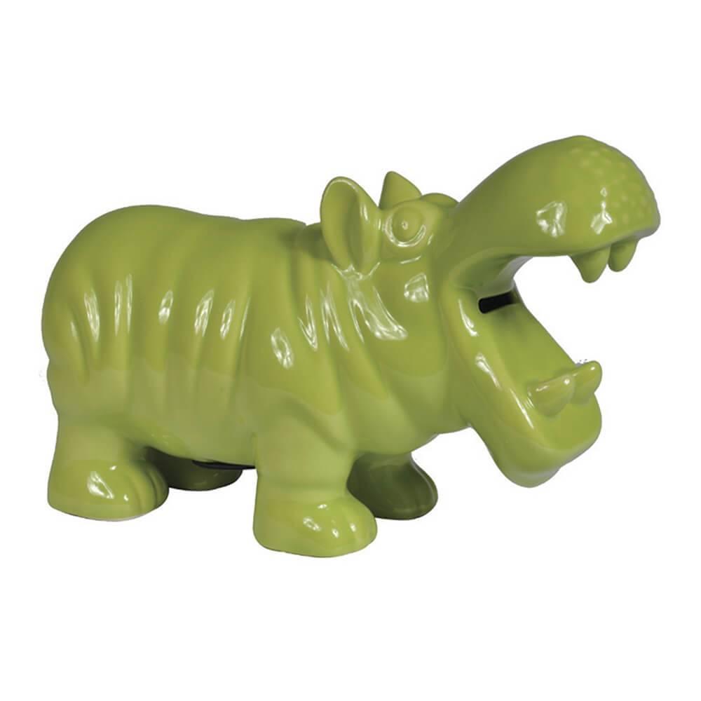 Cofre Hippo Verde em Cerâmica - Urban - 26,5x16 cm