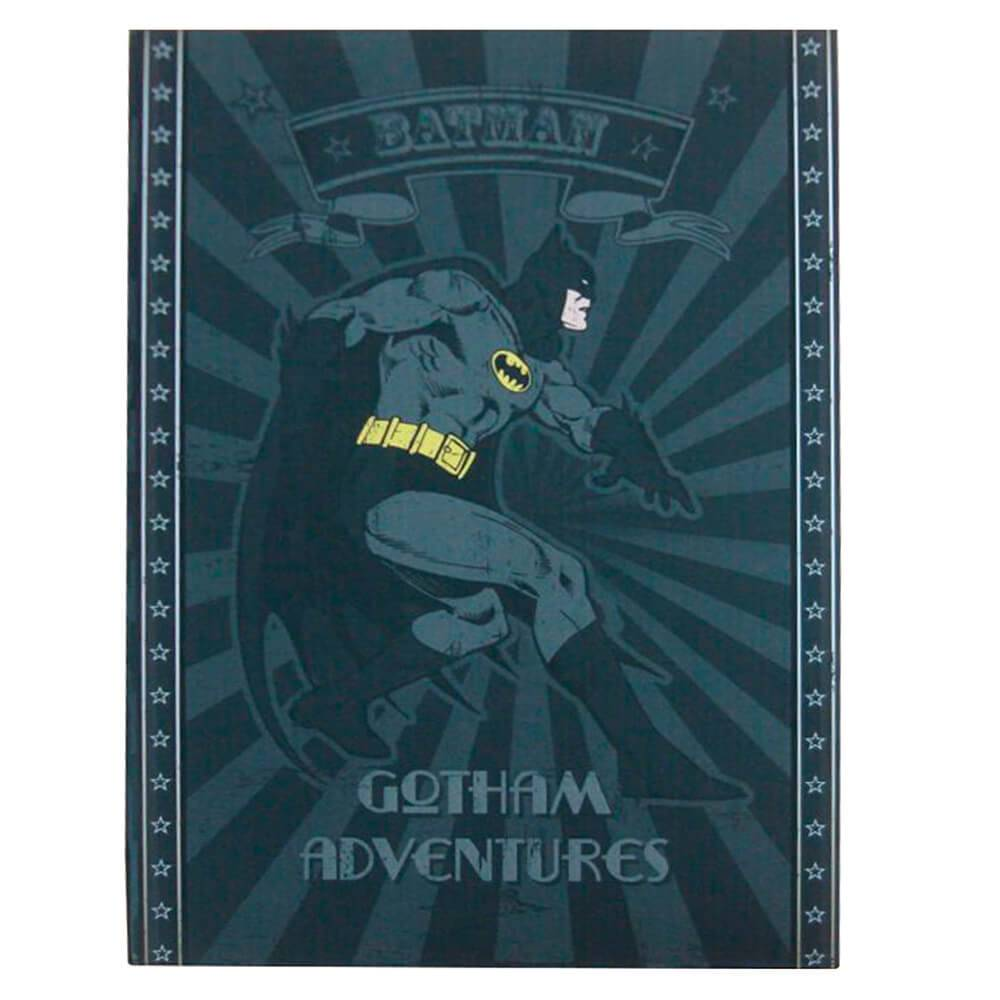 Cofre Livro Decorativo DC Comics Batman Preto em Metal - Urban - 22x15,3 cm