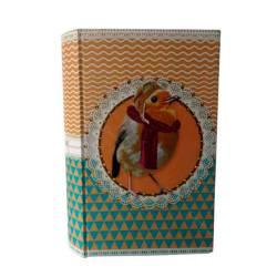 Cofre Livro Pet Pop Pássaro Aviador em Madeira/Tecido