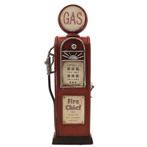 Cofre / Miniatura Bomba de Gás / Fire Chief - Feito de Metal  - 7x22 cm