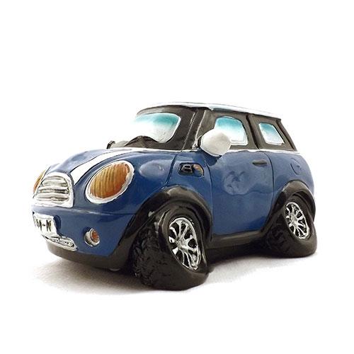 Cofre / Miniatura de Carro de Corrida Azul - Feito de Resina - 15x9 cm
